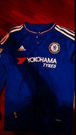 Camisola Chelsea hazard manga comprida foto 1