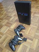 Playstation 2 com 2 comandos e 2 jogos foto 1