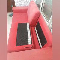Vendo sofá grande vermelho foto 1