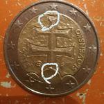 Moeda 2€ 2015 com defeito foto 1