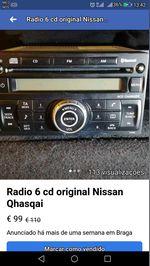 Radio de 6 cd....original Nissan Qashqai foto 1