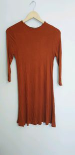 Vestido cor de telha foto 1