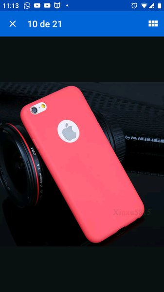 Capa traseira ultra macia do silicone iPhone 6 e 7 foto 1