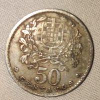 Moeda 50centavos de 1957, República Portuguesa foto 1