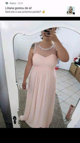 Vestido de cerimónia novo, com etiqueta. Tam. L foto 1