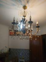 Candeeiro vintage em cristal e pimtado a mao foto 1