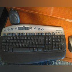 Rato e teclado Microsoft wireless foto 1