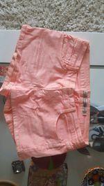 Calções de ganga rosa néon, como novos. foto 1