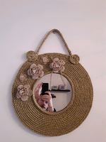 Espelho decorado em corda foto 1