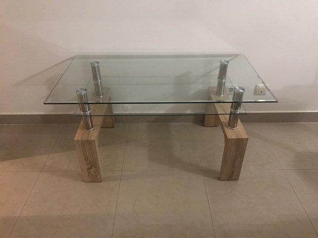Mesa de vidro como nova. foto 1