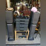 Aparelhagem grunding com colunas sony  Cassetes,cd foto 1