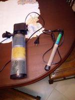 Filtro e termostato de aquário. foto 1