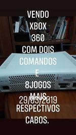 Vendo xbox360 com oito jogos e dois comandos desbl foto 1