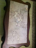 Mesa de centro, com pedra mármore partida foto 1