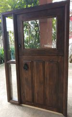Portas em madeira maciça foto 1