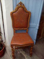 8 cadeiras em cerejeira e couro foto 1