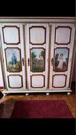 Mobília de Solteiro pintada à mão estilo D. MARIA foto 1