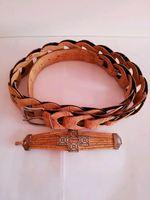 Conj. Mala /Cinto/Bracelete, em cortiça (novo) foto 1