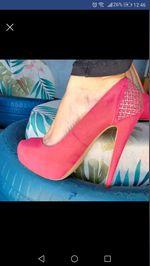 Sapato em camurça. Zara. Usado uma única vez n. 38 foto 1