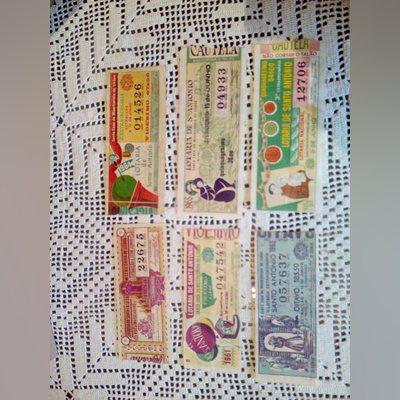 lote de lotarias S. Antonio anos diferentes foto 1