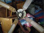 Candeeiro com ventoinha de teto foto 1