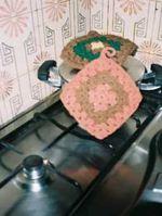 Venda de Artesanato Utilitário...Pegas de cozinha em croché foto 1