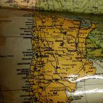 Mapa mundo vintage foto 1