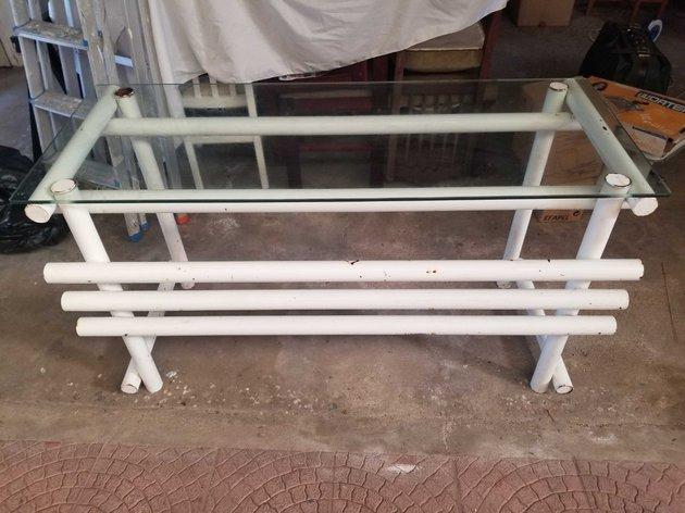 2 balcões em ferro e vidro usado/para restauro foto 1