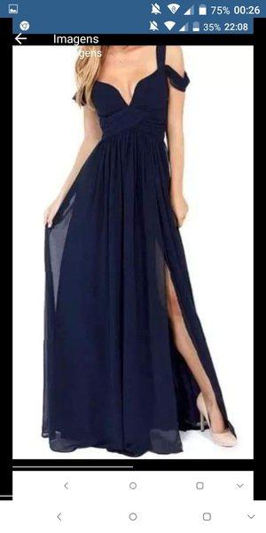 Vestido azul novo foto 1