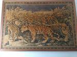 tapeçaria de parede emuldorada em seda tigres na s foto 1