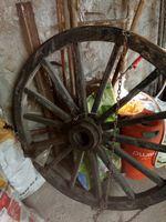 Roda de carroça foto 1