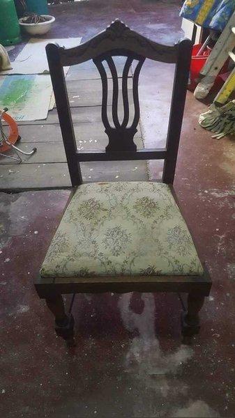 Cadeira almofadada foto 1