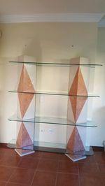 Movel de vidro e mármore foto 1