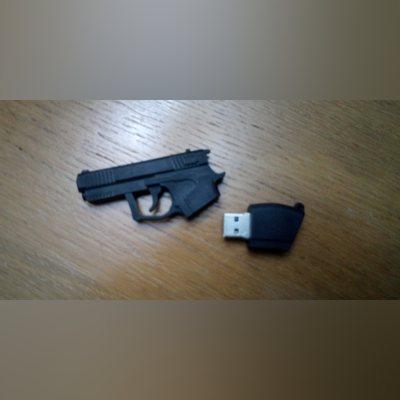Vende-se, peny em forma de pistola, com 8G de memó foto 2