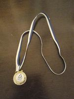 Medalha de prata de ginástica acrobática foto 1