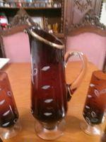 Vendo conjunto de jarro com 6 copos antigos pintados a mao foto 1