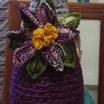 Garrafas decoradas em crochê foto 1