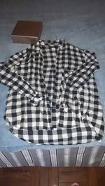 camisa de quadros tamanho xs bershka 3 € foto 1