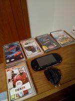 PSP, carregador e mais os jogos