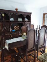 Vendo mobília de sala, movel mesa e oito cadeiras foto 1