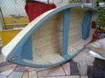 Barco a remos em fibra de vidro. foto 1