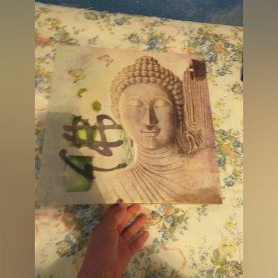 Quadro com desenho de uma deusa foto 4