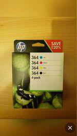 Pack 4 Tinteiros HP 364 originais (N9J73AE) foto 1