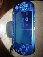 PSP portátil azul + 5 jogos + CM 2G+ bolsa foto 1