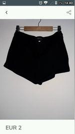 calçoes curtos pretos bershka. foto 1