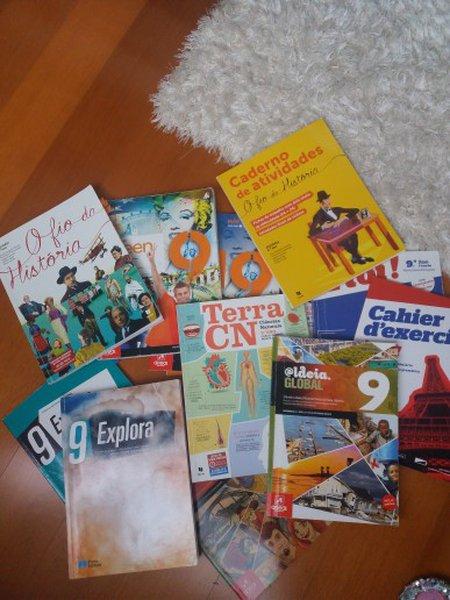 manuais do 9 ano + extras e cadernos de atividades foto 1