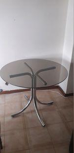 Mesa de vidro jantar foto 1