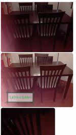 Mesa com 4 cadeiras foto 1