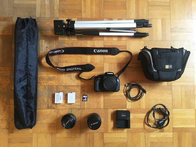 Canon EOS 600D + 2x Lentes + Acessórios foto 1