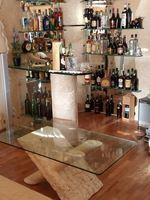 Vendo móvel bar e mesa de centro em pedra e vidro foto 1